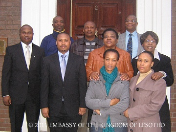 Embassy team and the delegates