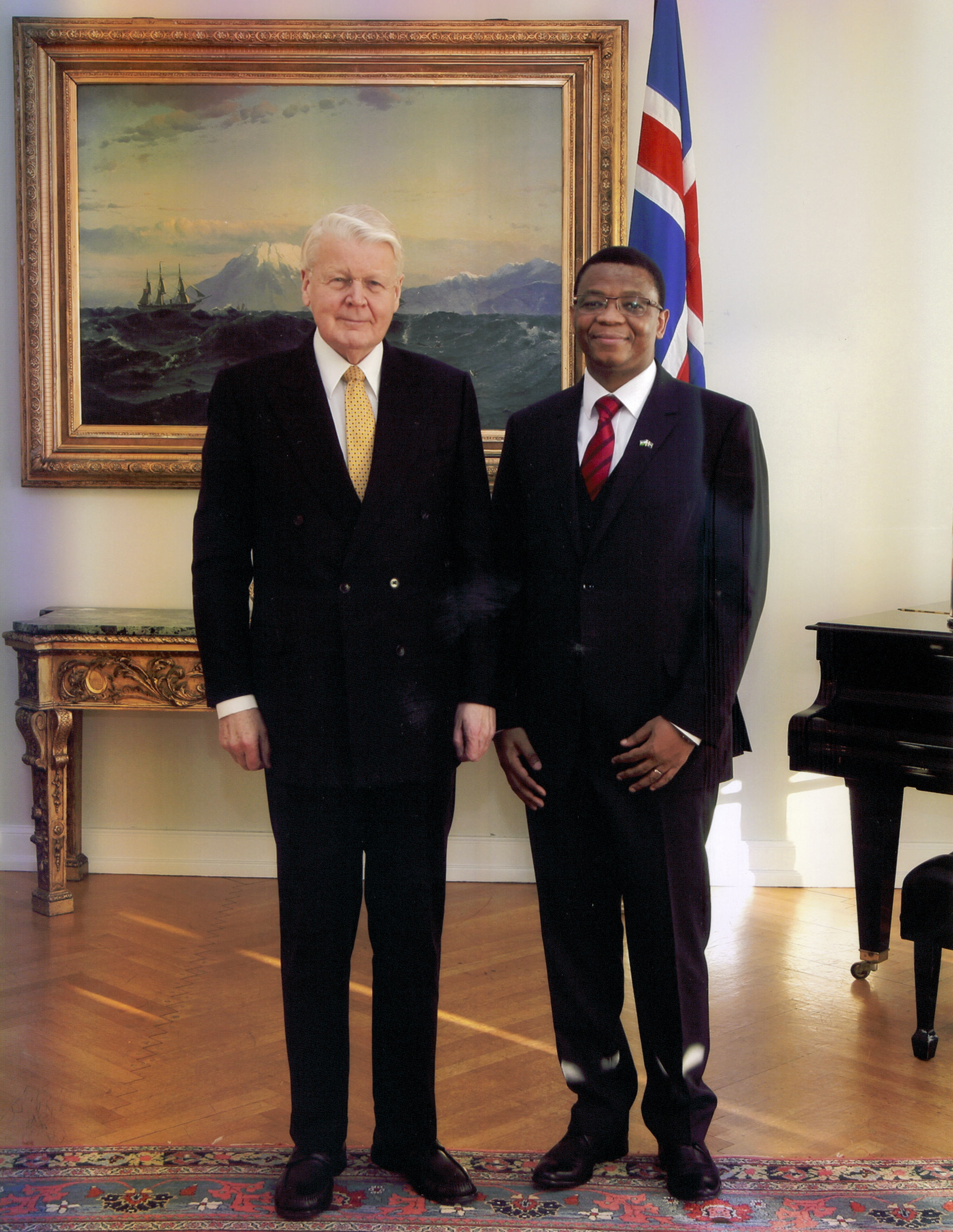 Ambassador with President Olafur Grimsson of Iceland 2